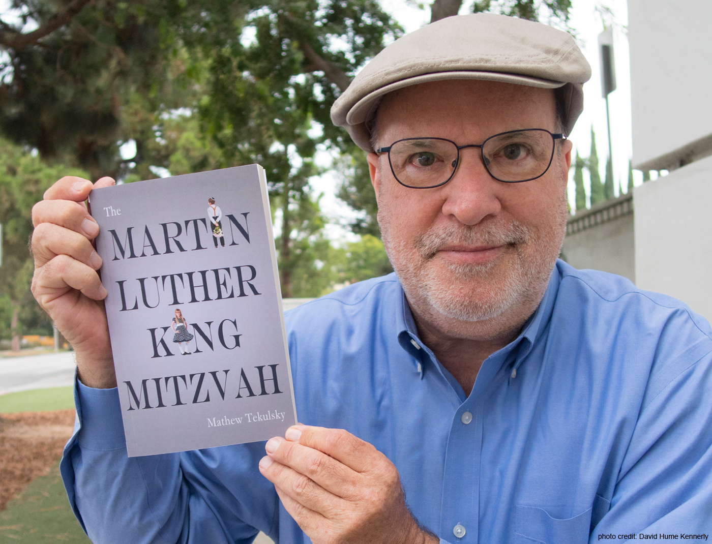 Mathew Tekulsky with MLK book
